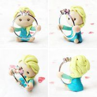 Queen Elsa Handmade Polymer Clay Ring Holder by lyrese