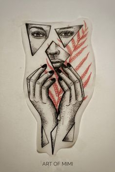 Work by Art of Mimi #illustration #fortattoo #design #dotwork #linework #artofmimi