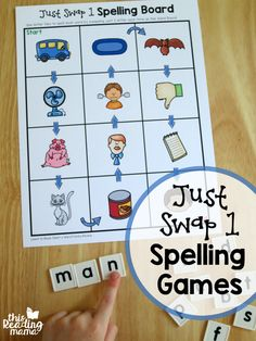 Just Swap 1 Short Vowel Spelling Games from Learn to Read - This Reading Mama