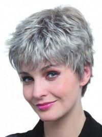 Browse our full range of Short Pixie Style Synthetic Capless Grey Wig and accessories in our grey hair wigs store and enjoy a fabulous way to change your appearance. Short Pixie Haircuts, Pixie Hairstyles, Short Hairstyles For Women, Straight Hairstyles, Cool Hairstyles, Hairstyle Ideas, Style Hairstyle, Beautiful Hairstyles, Latest Hairstyles