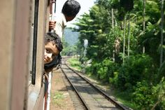 Awesome train travel in Sri Lanka Train Travel, Sri Lanka, Railroad Tracks, Adventure Travel, Awesome, Holiday, Inspiration, Biblical Inspiration, Vacations