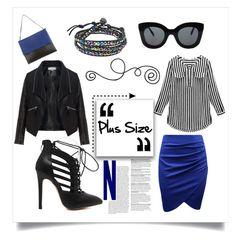 plus size by janicevc on Polyvore featuring polyvore fashion style Zizzi CÉLINE AeraVida women's clothing women's fashion women female woman misses juniors