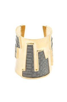 kara by kara ross - cityscape grey python cuff from couturecandy