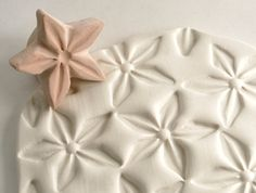 Clay Stamp Star Flower Jasmine Shape Pattern Texture Shape Tool for Clay Ceramics Pottery . Lots of stamps on this site.