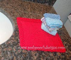 Posh Pooch Designs Dog Clothes: Washcloth Pattern - Free Knitting Pattern for Beginners | Posh Pooch Designs