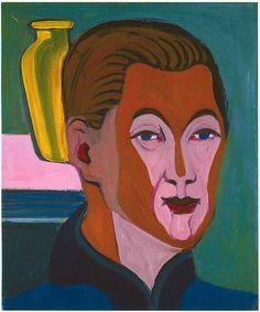 Ernst Ludwig Kirchner - Kopf des Malers (Selbstbildnis) 1925 - Ernst Ludwig Kirchner - Wikimedia Commons