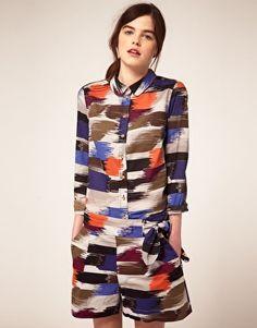 Kookai – Hemd mit Ikat-Muster