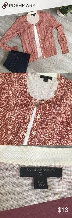 aaac73bdeab Banana Republic Cardigan Sweater-Petite XS Banana republic factory cardigan  sweater. Great condition. Smoke free home. Size  petite XS Banana Republic  ...