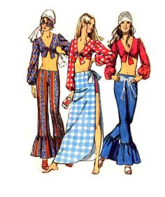 70's flair Remember sewing in Home Ec.
