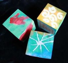 These artful DIY wooden blocks are fun to make with melted crayon drawings and liquid watercolors. Great gift idea for kids to make or receive. Liquid Watercolor, Watercolor Paintings, Watercolors, Diy Toys And Games, Crayon Drawings, Melting Crayons, Wooden Blocks, Wooden Diy, Recycled Materials