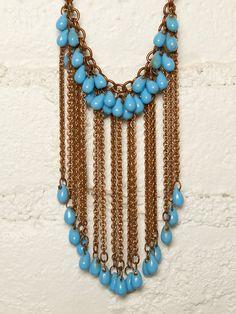 bead bib necklace