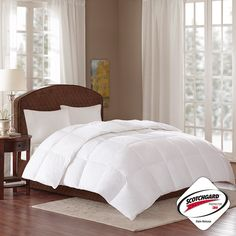 The True North white down comforter collection features 3M Scotchgard stain release protection.