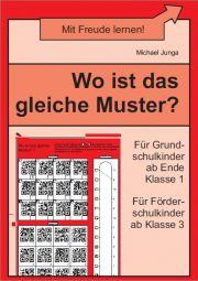 Wo ist das gleiche Muster? | Wahrnehmung | Nach Thema | Unterrichtsmaterialien, Arbeitsblätter & Übungsblätter | Mein-Unterrichtsmaterial.de