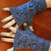 Huckleberry Fingerless Mittens - via @Craftsy