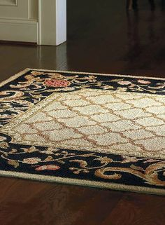 Hand-hooked and graced with an elegant pattern, the Alsace EZ Care Rug is constructed of polypropylene fibers for lasting style and durability.