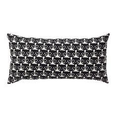 Ikea Black White Cat Pillow Cushion Cotton 12 X Ikea Cat Cushion, complete pillow 12 x , cotton outer shell Total weight: about 1 lb polyester fibers filling Machine washable Ikea Halloween, Halloween Home Decor, Halloween Decorations, Cat Cushion, Cushion Covers, Cushions Ikea, Cat Pillow, Textiles, Cat Pattern