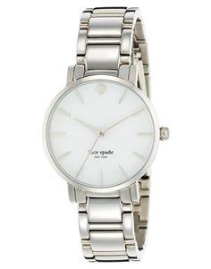 Kate Spade – Gramercy – Silberfarbene Armbanduhr
