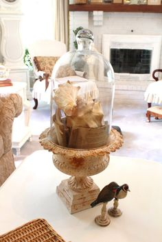 cloche in an urn...nice idea