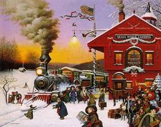 Charles Wysocki - 'Whistle Stop Christmas'  H