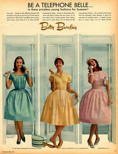 Betty Barclay dresses, 1960.