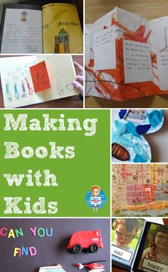 Have you ever made a book with your children? Here are some wonderful ideas to inspire you