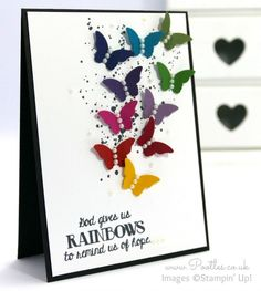 Stampin' Up! UK Demonstrator Pootles - Over the Rainbow with Bitty Butterflies