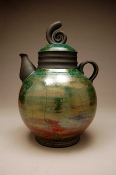 Tea'na Raku Teapot   # Pin++ for Pinterest #