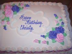 sheet cake - simple birthday cake