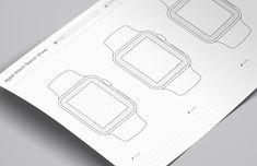 Medialoot - Wireframe Sketch Sheets (Apple Watch)