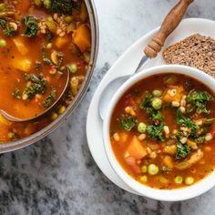 Copycat Recipes, Soup Recipes, Olive Garden Minestrone Soup, Frozen Green Beans, Turkey Soup, Winter Soups, Soup Mixes, Olive Gardens, Italy