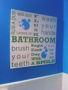 aww! this would be easy to do for the kids' bathroom.