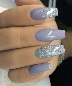 30 Inspiring Winter Nails Color Trend 2019 – Winter Nails Acrylic - Water - New Ideas Best Acrylic Nails, Acrylic Nail Art, Gel Nail Art, Acrylic Nail Designs, Gel Nails, Coffin Nails, Winter Acrylic Nails, Acrylic Nails Glitter, Glitter Lips
