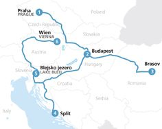 Eastern Europe itinerary train route