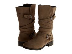 NEW Report Womens Jesslyn Dark Brown Mid Calf Cross Strap Buckle Boot Size 6 #REPORT #FashionMidCalf