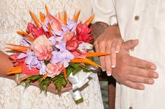 Gorgeous and bright! The perfect bouquet for a wedding in tropical Jamaica #SecretsStJames #SecretsWildOrchid