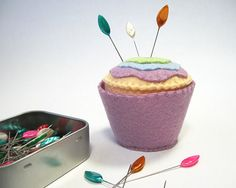 Lovely Leaflets Decorative Sewing Pins Box of by BusyLittleBird