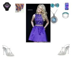 """""""Untitled #342"""" by hungergameslover7 ❤ liked on Polyvore featuring Sherri Hill, René Caovilla and Ice"""