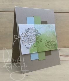 Healing Tree | Stampin\' Up! | Flourishing Phrases | Lovely As A Tree #literallymyjoy #tree #sympathy #comforting #healing #watercoloring #masculine #CAS #cleanandsimple #CASEthecatalog #20172018AnnualCatalog