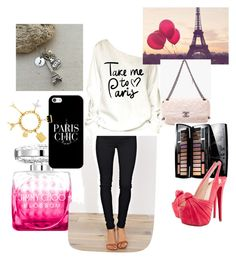 Paris by jera-lee on Polyvore featuring polyvore, fashion, style, Christian Louboutin, Chanel, Louis Vuitton, Casetify, Lancôme, Jimmy Choo and clothing