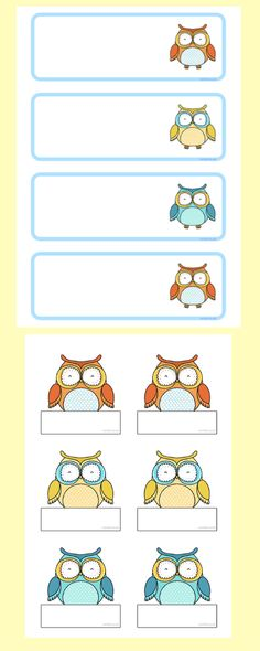 Use these FREE Owl tray and name labels to decorate your classroom for the new year. Owl Theme Classroom, Classroom Board, Classroom Ideas, Printable Lables, Printable Stickers, Classroom Organisation, Classroom Management, Preschool Ideas, Teaching Ideas