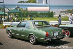 Corona Mark II coupe from the seventies on Hayashi Racing wheels
