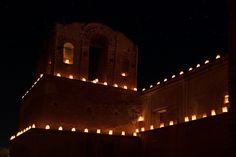 Luminarias at Tumacacori on Christmas Eve (Photo by Ken Bosma, Flickr Creative Commons) Christmas Eve, Arizona, Clay, Creative, Clays, Modeling Dough