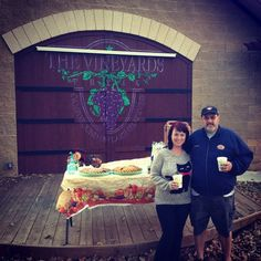 Toasting the season with free hot apple cider and pumpkin cookies   #grapevine #travel #rv #rvlife #rving