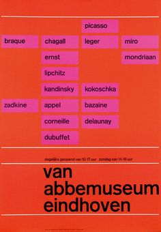 Flyer Goodness: Wim Crouwel - selected graphic designs and prints from museum archive Typography Inspiration, Graphic Design Inspiration, International Typographic Style, Picasso And Braque, Print Layout, Exhibition Poster, Favorite Words, Kandinsky, Design Museum