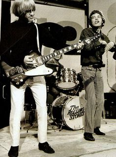 Rolling Stones Brian Jones and Mick Jagger, circa early 1960's