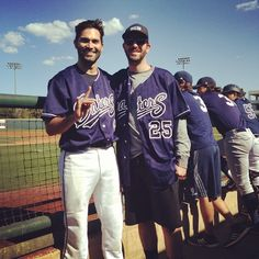 Tyler Hoechlin and Cory Hamilton at the annual Anteater Alumni Game. Photo by UC Irvine Athletics on Instagram.