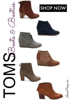 Toms Boots and Booties! Fall and Winter Styles 2015 & 2016 Women's Fashion!