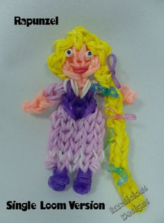 Tutorial on how to make Rapunzel from Tangled using the Rainbow Loom - s...