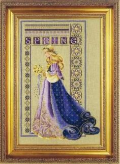 ☼ Seasons ☼ Spring ☼ Celtic Spring, Cross Stitch from Lavender and Lace