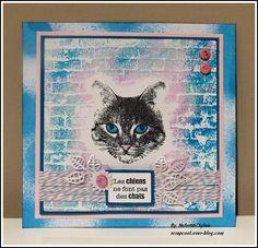 Carte chat avec un tampon Carabelle Studio